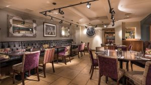 restaurant dining brasserie winter menu food drink rooms swan hotel stafford