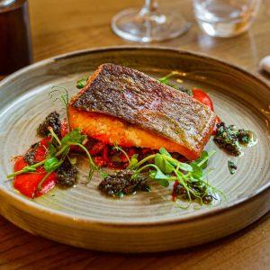 Salmon-Fish-Vegan-Vegetarian-Swan Hotel Stafford